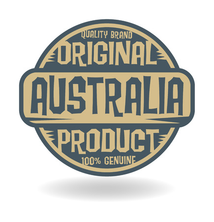 Abstract stamp with text Original Product of Australia Vector