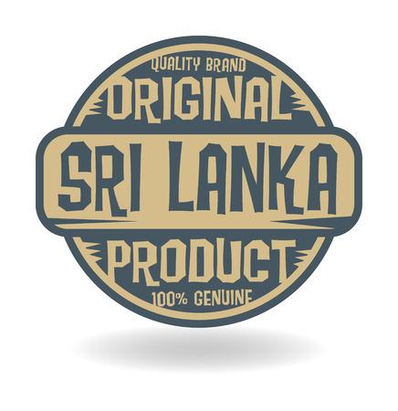 lanka: Abstract stamp with text Original Product of Sri Lanka