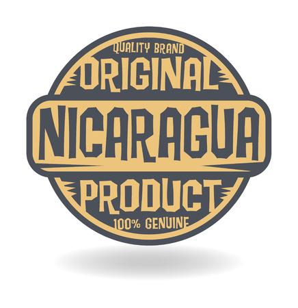 timbre voyage: Résumé timbre avec le texte d'origine du produit du Nicaragua