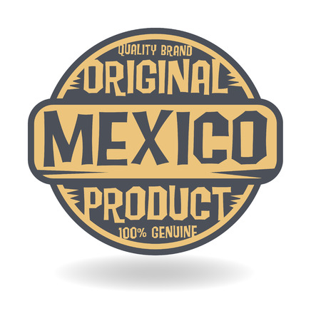 Abstract stamp with text Original Product of Mexico Vector