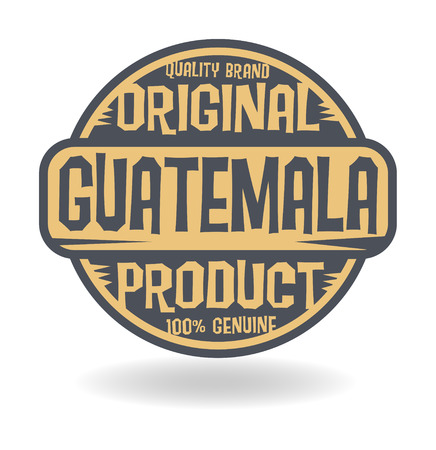 guatemala: Abstract stamp with text Original Product of Guatemala