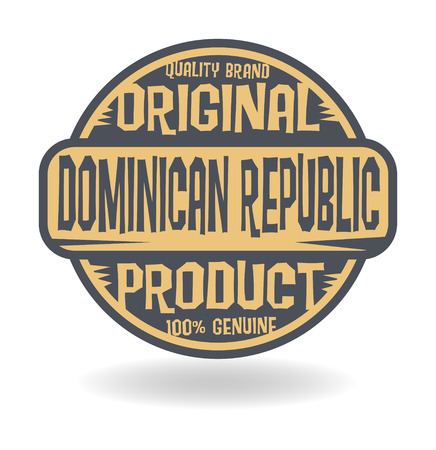 dominican republic: Abstract stamp with text Original Product of Dominican Republic Illustration