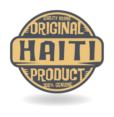 haiti: Abstract stamp with text Original Product of Haiti Illustration