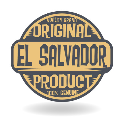 el salvador: Abstract stamp with text Original Product of El Salvador