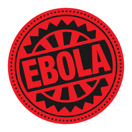 ebola: Abstract stamp or label with the text Ebola written inside Illustration