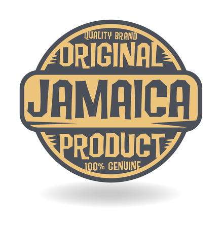 jamaica: Abstract stamp with text Original Product of Jamaica Illustration