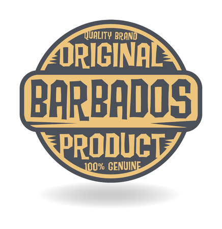 barbados: Abstract stamp with text Original Product of Barbados