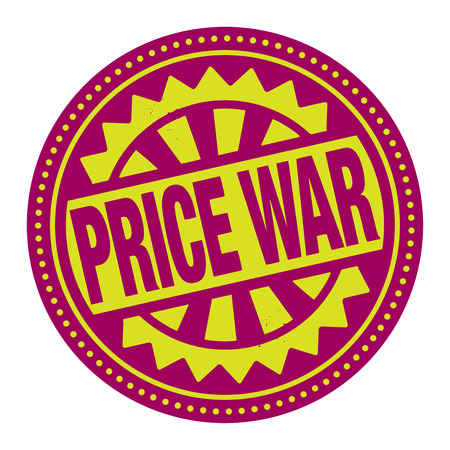 pricing: Abstract stamp or label with the text Price War written inside
