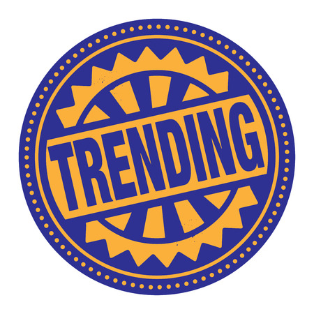 trending: Abstract stamp or label with the text Trending written inside