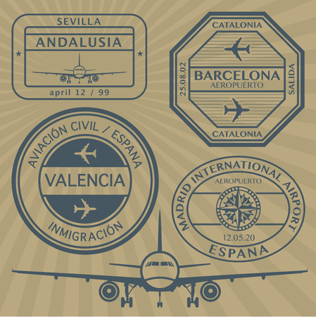Travel stamps set Vector