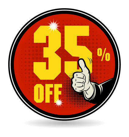 five star: Sale discount sign
