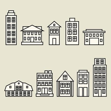 House set Illustration