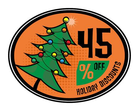 Sale discount sign Vector