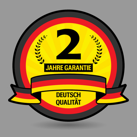 Label with the text 2 years guarantee written inside Vector