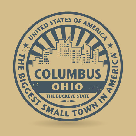 Grunge rubber stamp with name of Columbus, Ohio Vector