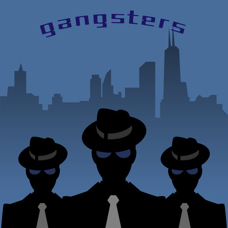 Abstract mafia or gangster background Illustration