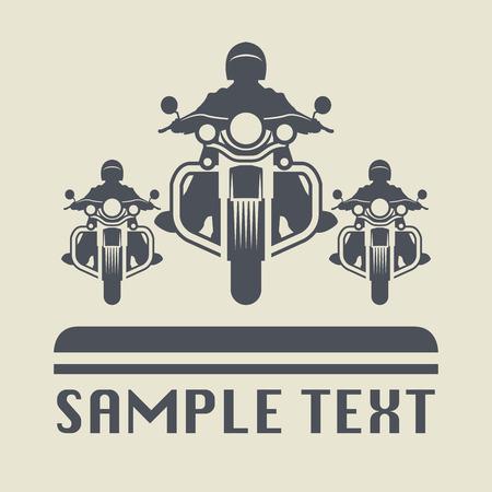 Motorrad-Symbol oder Zeichen Illustration
