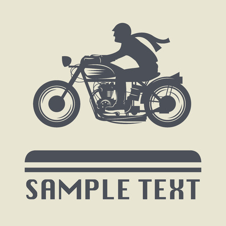 motocycle: Motorcycle icon or sign