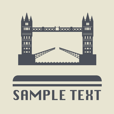 bridge: London bridge icon or sign Illustration