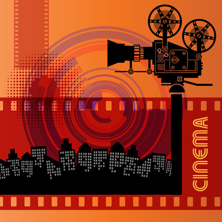 movie projector: Abstract cinema background