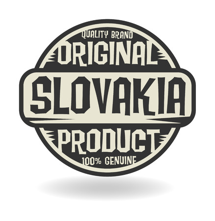 Abstract stamp with text Original Product of Slovakia