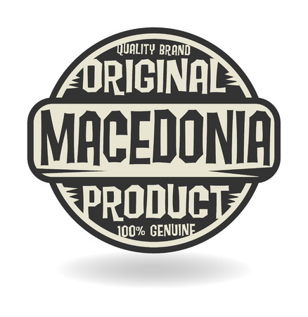 macedonia: Abstract stamp with text Original Product of Macedonia