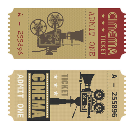 theater seats: Retro cinema ticket