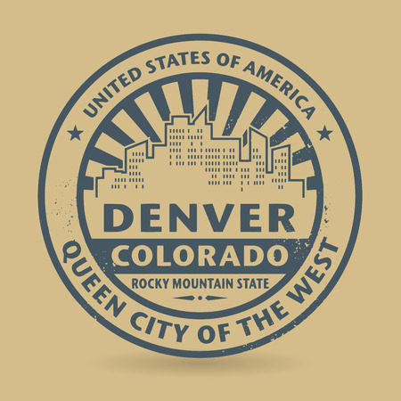 Grunge rubber stamp with name of Denver, Colorado Vector