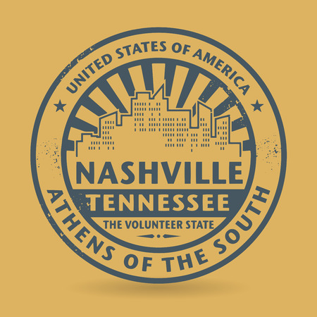 Grunge rubber stamp with name of Nashville, Tennessee Vector
