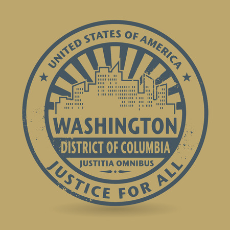 district of columbia: Grunge rubber stamp with name of Washington, District of Columbia
