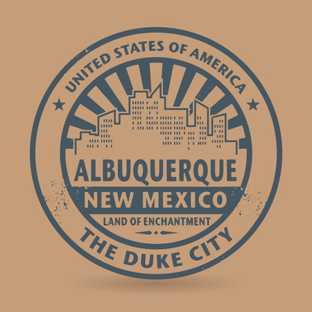 Grunge rubber stamp with name of Albuquerque, New Mexico Vector
