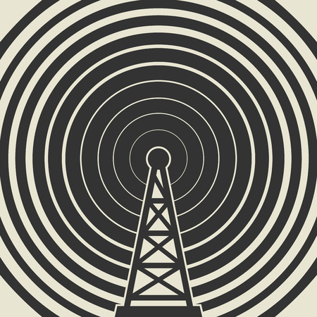 telephone mast: Transmitter icon or sign