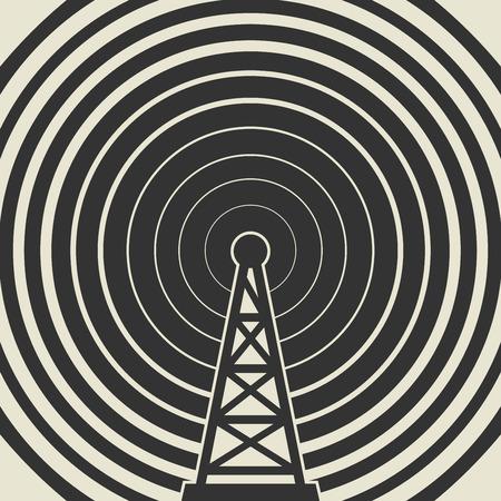 telephone mast: Transmitter icon or sign