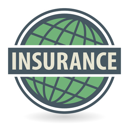 satisfy: Abstract stamp or label with the text Insurance written inside