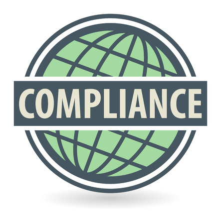 compliant: Abstract stamp or label with the text Compliance written inside Illustration
