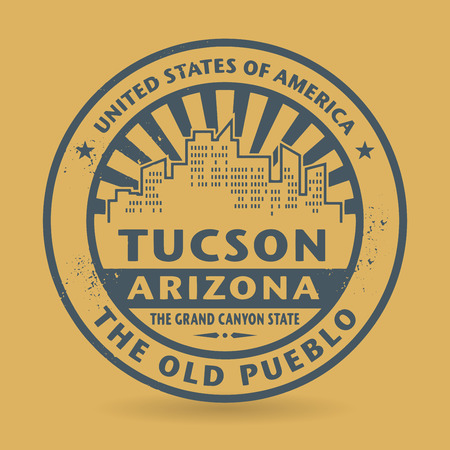 tuscon: Grunge rubber stamp with name of Tuscon, Arizona Illustration