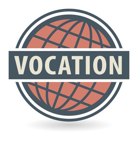 vocation: Abstract stamp or label with the text Vocation written inside