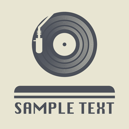 Turntable icon or sign, vector illustration Illustration