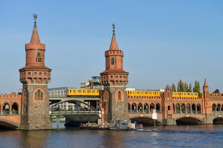 BERLIN, OCTOBER 27: Oberbaumbruecke (Oberbaum bridge), river Spree on October 27, 2014 in Berlin, Germany. Oberbaumbruecke is one of the most popular landmarks of the city.