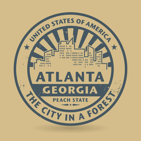 Grunge rubber stamp with name of Atlanta, Georgia Vector