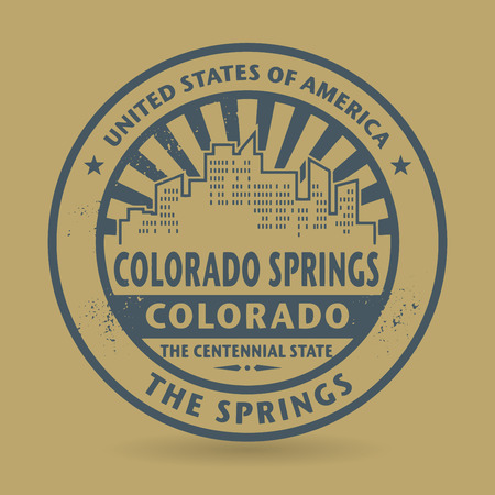 colorado springs: Grunge rubber stamp with name of Colorado Springs, Colorado