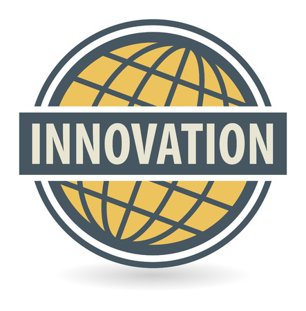 innovator: Abstract stamp or label with the text Innovation written inside Illustration