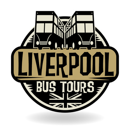 liverpool: Abstract stamp with text Liverpool, Bus Tours
