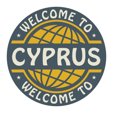 Color stamp with text Welcome to Cyprus inside Vector