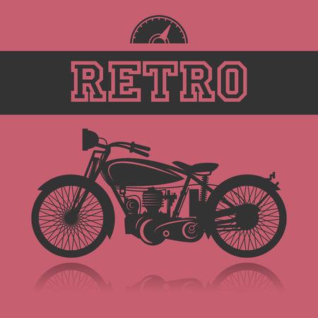 Vintage Motorcycle label Vector