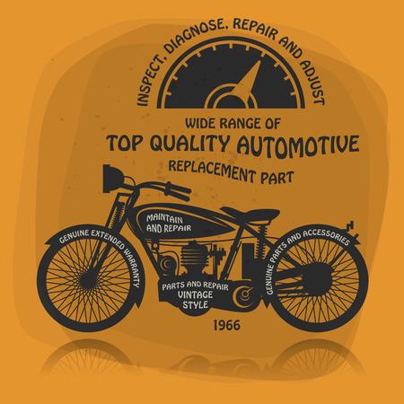 old motorcycle: Vintage Motorcycle label or poster
