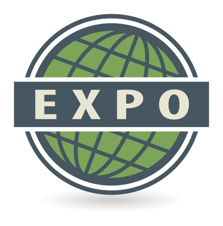 Abstract stamp or label with the text Expo written inside