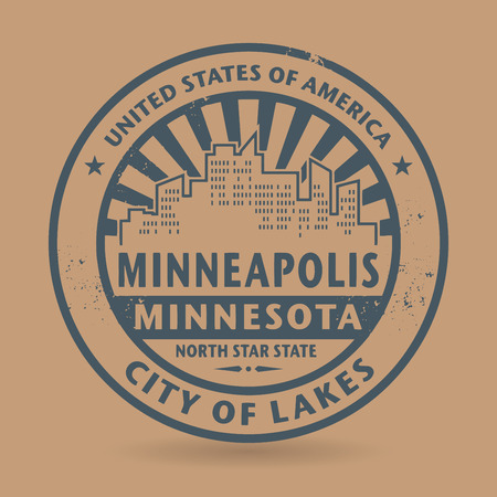 Grunge rubber stamp with name of Minneapolis, Minnesota, vector illustration Vector