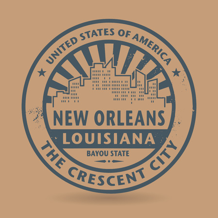 orleans: Grunge rubber stamp with name of New Orleans, Louisiana, vector illustration Illustration
