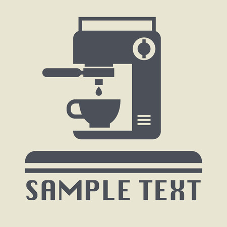 coffee machine: Coffee machine icon or sign, vector illustration